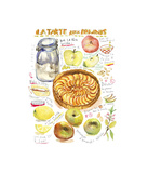 Apple Tart Recipe Giclee Print by Lucile Prache