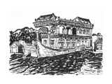The Summer Palace Stone Boat Sketch Prints by  jim80