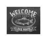 Welcome To Our Lake House Gicléedruk van  L.A. Pop Art