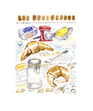 French Croissant Recipe Giclee Print by Lucile Prache