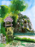 Chinese Garden Painting Prints by  jim80
