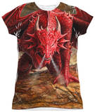 Juniors: Anne Stokes - Dragon's Lair T-Shirt