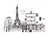 Hand Draw Paris Poster di  jim80
