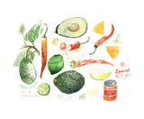 Guacamole Recipe Giclee Print by Lucile Prache