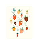 It is Raining Strawberries Giclee Print by Lucile Prache