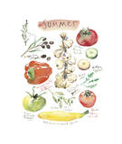 Summer Vegetables Giclee Print by Lucile Prache