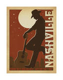 Leaning Cowboy Posters by  Anderson Design Group