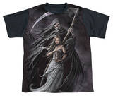 Anne Stokes - Summon The Reaper Black Back Shirts
