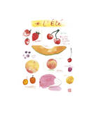 Summer Fruits Giclee Print by Lucile Prache