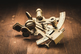 Old Bronze Sextant Photographic Print by Pavel Timofeev