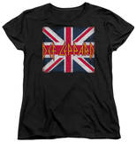 Womans: Def Leppard - Union Jack Shirt