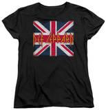 Womens: Def Leppard - Union Jack T-Shirt