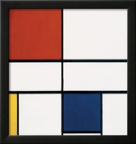 Composition C (no.III), with Red, Yellow and Blue, 1935 Poster by Piet Mondrian
