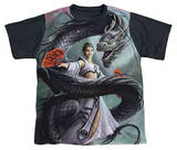 Youth: Anne Stokes - Dragon Dancer Black Back Shirt