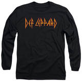 Long Sleeve: Def Leppard - Horizontal Logo T-Shirt