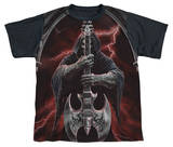 Youth: Anne Stokes - Rock God Black Back T-Shirt