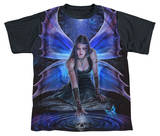 Youth: Anne Stokes - Immortal Flight Black Back T-Shirt