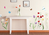 Colorful Flowers Wallstickers