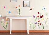 Colorful Flowers - Duvar Çıkartması