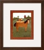 Horse with Hen Prints by Valerie Wenk