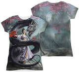 Juniors: Anne Stokes - Dragon Dancer (Front - Back Print) T-shirts