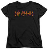 Womans: Def Leppard - Horizontal Logo T-Shirt