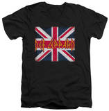 Def Leppard - Union Jack V-Neck T-shirts