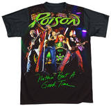 Poison - Good Time Live Black Back T-shirts