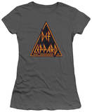 Juniors: Def Leppard - Distressed Logo T-shirts