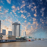 New Orleans Skyline. City Buildings on Mississippi River, Lousia Photographic Print by  jovannig