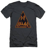 Def Leppard - Distressed Logo (slim fit) T-shirts