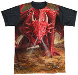 Anne Stokes - Dragon's Lair Black Back T-Shirt