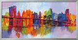 Abstract Manhattan Framed Giclee Print by Brian Carter