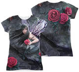 Juniors: Anne Stokes - Rose Fairy (Front - Back Print) Shirts