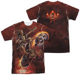 Anne Stokes - Hellrider (Front - Back Print) T-shirts