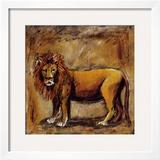Safari Lion Art by Tara Gamel