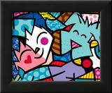 Best Friends Prints by Romero Britto