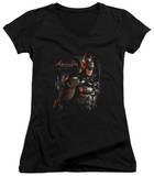 Juniors: Batman: Arkham Knight - Dark Knight V-Neck T-shirts