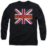 Long Sleeve: Def Leppard - Union Jack T-Shirt