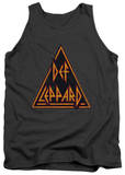 Tank Top: Def Leppard - Distressed Logo Tank Top