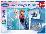 Disney Frozen Winter Adventures - Three 49-Piece Puzzles Jigsaw Puzzle