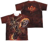 Youth: Anne Stokes - Hellrider (Front - Back Print) Shirts