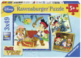 Jake's Pirate World - Three 49 Piece Puzzles Jigsaw Puzzle