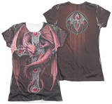 Juniors: Anne Stokes - Gothic Guardian (Front - Back Print) T-shirts