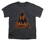 Youth: Def Leppard - Distressed Logo T-shirts