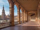 Seville - the Portico of Plaza De Espana Square Photographic Print by Renáta Sedmáková