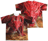 Youth: Anne Stokes - Dragon's Lair (Front - Back Print) T-Shirt