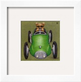 Le Bolide Vert Print by Raphaele Goisque