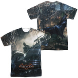 Batman: Arkham Knight - Into The Night (Front - Back Print) T-shirts