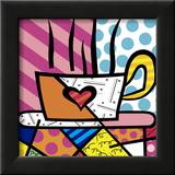 Latte Love Print by Romero Britto